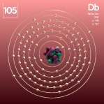 105 animated Classic Dubnium Element Orbit Alpha