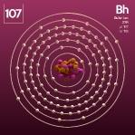 107 animated Classic Bohrium Element Orbit