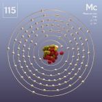 115 animated Classic Moscovium Element Orbit