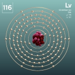 116 animated Classic Livermorium Element Orbit