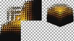 CUBES DISSAPEAR - Projection Mapped 3D Cube Content