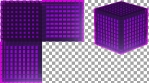 PURPLE GLASS - Projection Mapped 3D Cube Content