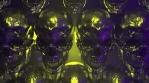 Golden Skulls Halloween VJ Loop