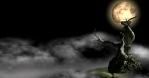 Halloween Fog Tree Hill Motion Background
