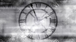 Time looping abstract grunge background in black and white