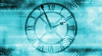 Time looping abstract grunge background in blue