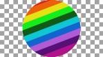 Circle lines rainbow alpha