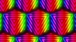 Glow Cubes triangles rainbow color