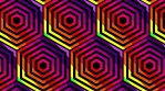 Rainbow Hexagon wall
