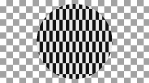 Black and white Pattern Checkers circle with alpha