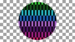 Rainbow Pattern Checkers circle alpha