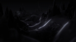 Dark Mood Abstract Surface Landscape