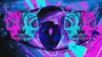 Pink Demon Skull with Eye Background