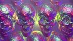 Gay Halloween Rainbow Skulls VJ Loop