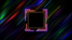 Neon Square in Hyper Space
