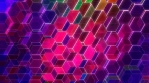 Colorful Winking Hexagons 4