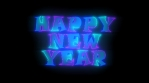 NEON TEXT happy new year 4k