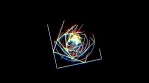 prisma color geometrical animation triangles and circles and more lines