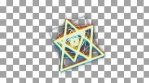 prisma color geometrical animation triangles and circles and squares with alpha