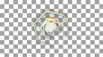prisma color geometric animation pentagone and colorful lines and circles