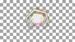 prisma color geometric animation pentagone and colorful lines