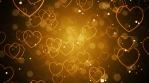 Golden Romantic Hearts