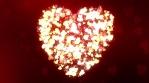 Glittering Wedding Hearts Red