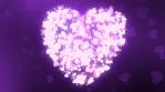 Glittering Wedding Hearts Purple