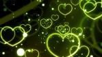 Green Loving Hearts Forever