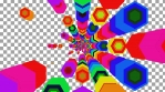 Fast Paced Colorful Spectrum Diffused Hexa Tunnel 08
