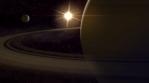 Saturn Space Scene