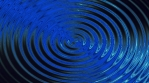 Concentric Blue Cercles Motion Background