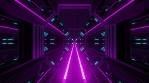 Sci Fi Tunnel Dark Pink Geometry