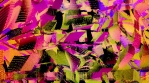 Articulated glitched geometric shapes background 03