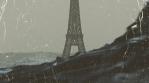 Post-Apocalyptic Paris with Rain VJ Loop