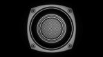 Bouncing Speakers Single Black and White
