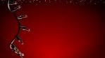 3D Christmas lights blinking red background