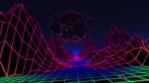Neon Flight Under Broken Sphere