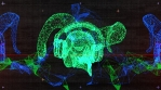 Techno Skull RGB VJ-Loop - 2