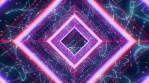 Neon tunnel with squares