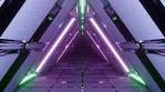 Sci Fi Tunnel Neon Triangles