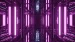 Sci Fi Tunnel Reflections Glowing Purple