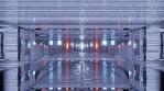 Sci Fi Tunnel Long Corridor White Orange
