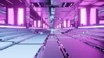 Sci Fi Tunnel Long Corridor Purple