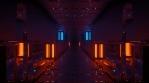 Sci Fi Tunnel Dark Long Corridor