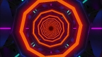 Technological tunnel. Octagon corridor with hypnotic spiral