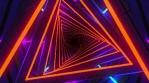 Technological tunnel. Triangular corridor