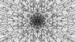 Monochrome Kaleido Mandala 01