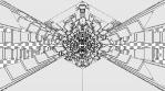 Monochrome Kaleido Mandala 04