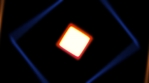 DARKEST squares tube shapes rotating and crossing through camera with glow colorful 4K WITH volumetr